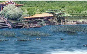 第三世多杰羌佛五明成就 工巧明之建筑庭园风景
