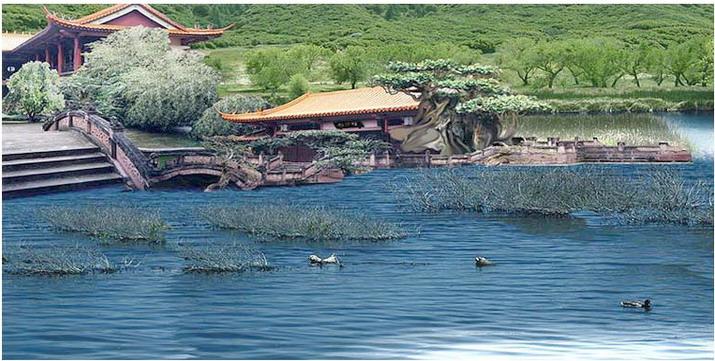 第三世多杰羌佛五明成就 工巧明之建筑庭园风景 第1张