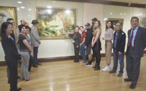 纽约艺院师生来旧金山美国国际艺术馆临摹