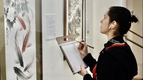 纽约艺院师生来旧金山美国国际艺术馆临摹 第3张