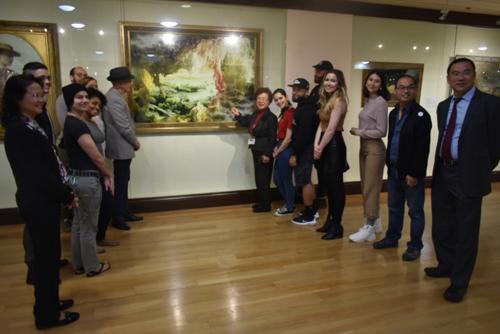 纽约艺院师生来旧金山美国国际艺术馆临摹 第2张