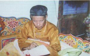 大伏藏师邬坚喜饶尊者认证义云高大师为第三世多杰羌佛